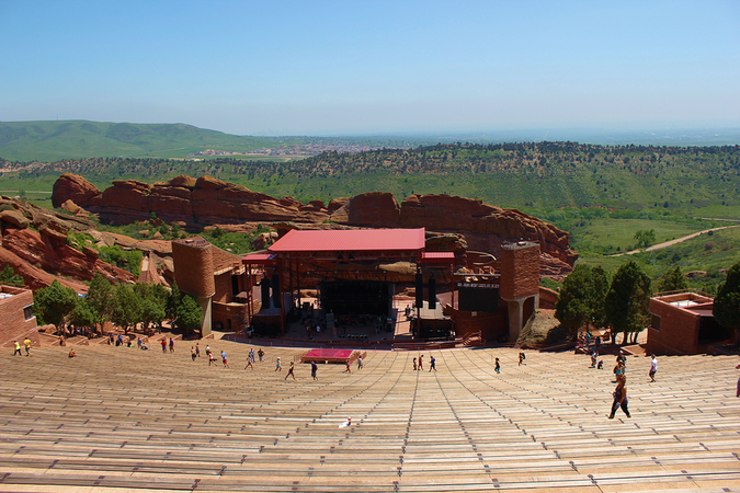 Denver's Red Rocks Park Amphitheater – a perfect venue for enjoying the majestic view
