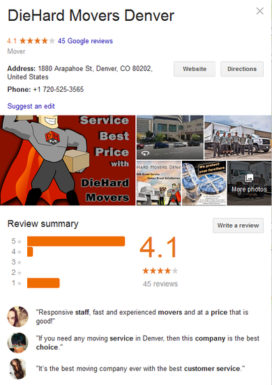 Die Hard Movers – Location and reviews
