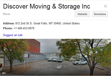 Discover Moving and Storage - Location