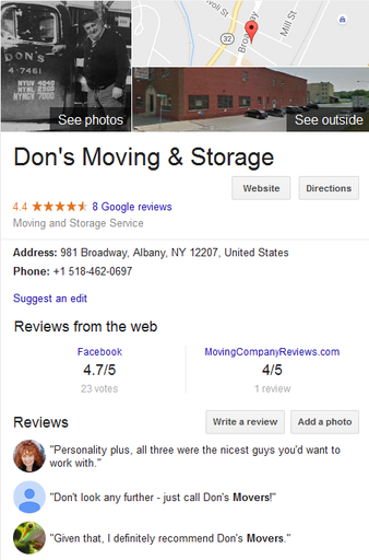 Dons Moving and Storage – Location