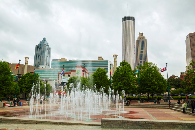 Downtown Atlanta – commerce hub of most populated city in Georgia