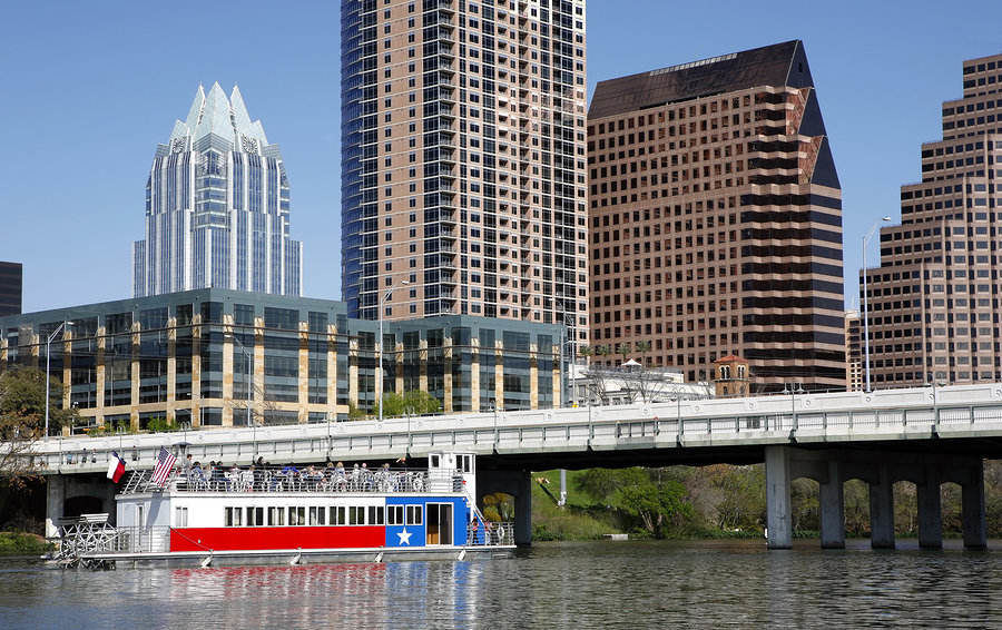 Downtown Austin and the Colorado River is a remarkable sight