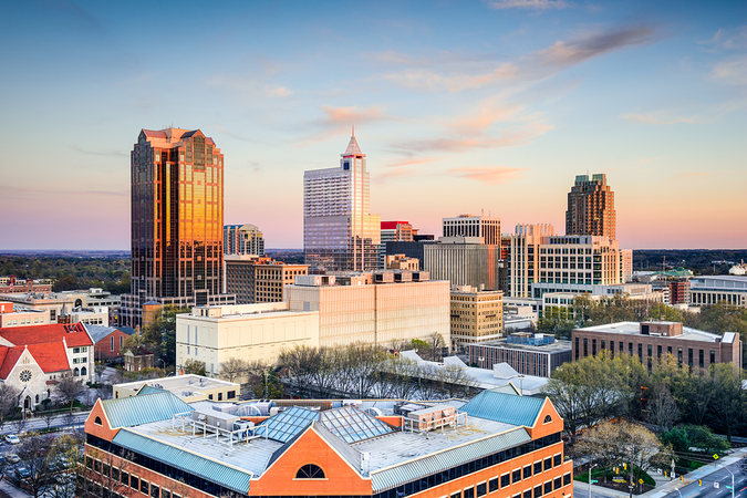 Downtown Raleigh skyline -   Move to the capital city of North Carolina