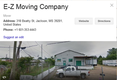 EZ Moving Company – Location