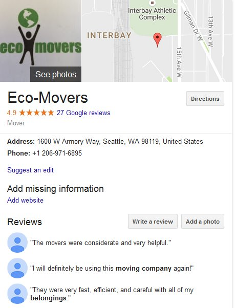 Eco Movers – Location