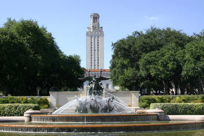 Famous University of Texas in Austin – one of many high quality educational institutions in the city