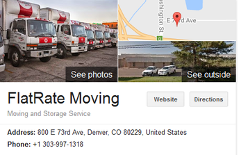Flat Rate Moving - Location
