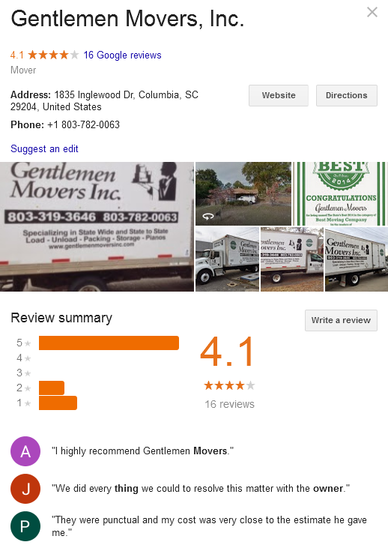 Gentlemen Movers – Location