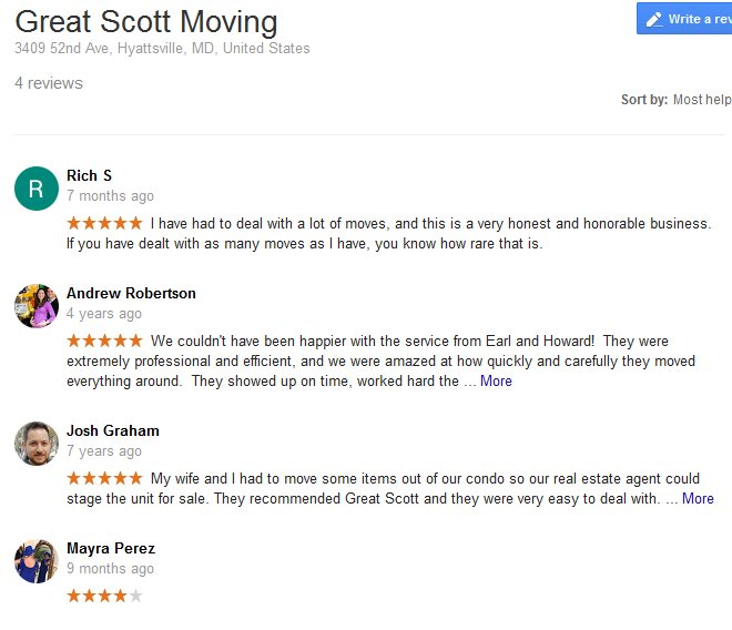 Great Scott Moving – Moving reviews