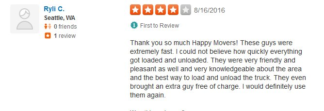 Happy Movers – Moving review