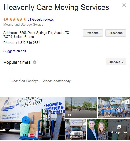 Heavenly Care Moving Services – Location