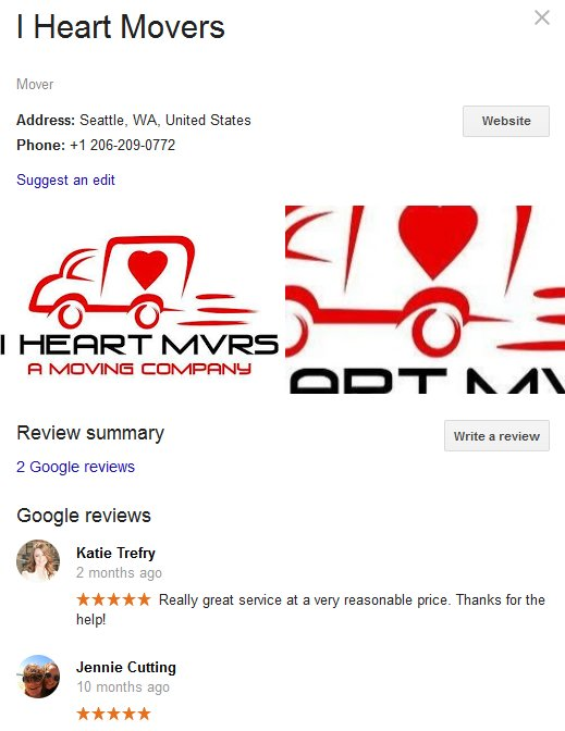 I Heart Movers – Location and reviews