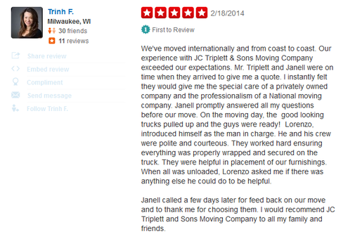 J C Triplett and Sons Moving – Moving review