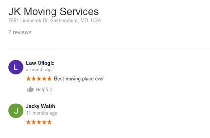 JK Moving Services – Moving reviews