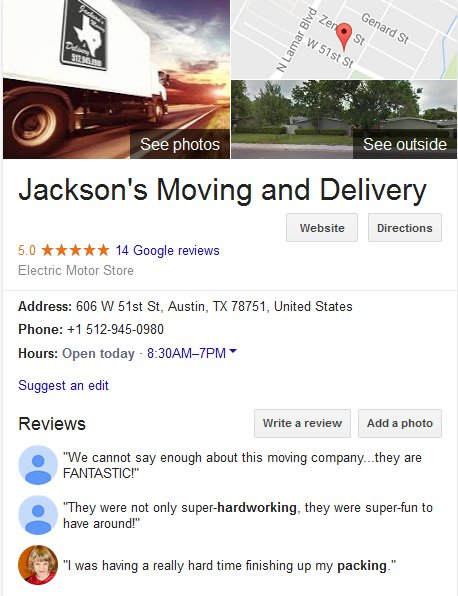 Jackson Moving and Delivery – Location