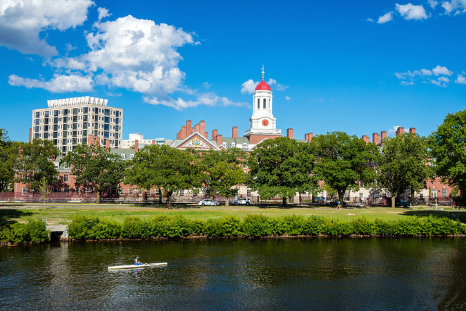 John W Weeks Bridge over Charles River in Harvard University campus