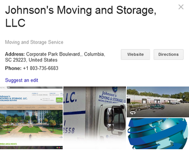 Johnson's Moving and Storage – Location