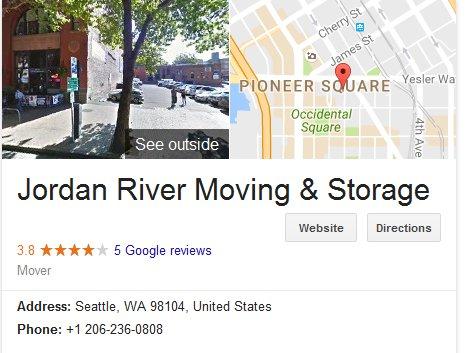 Jordan River Moving and Storage - Location