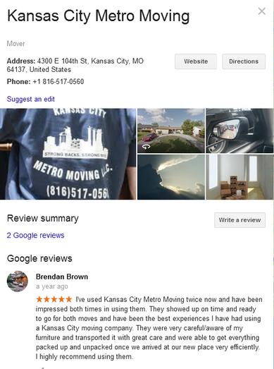 Kansas City Metro Moving – Location