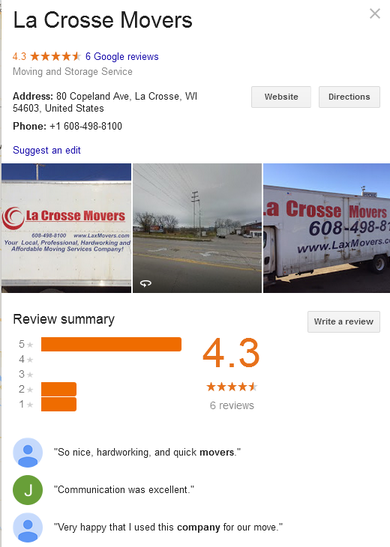 La Crosse Movers – Location