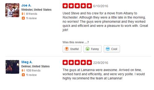 Lamanna Moving LLC – Moving reviews