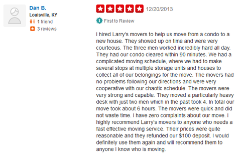 Larrys Movers – Moving review