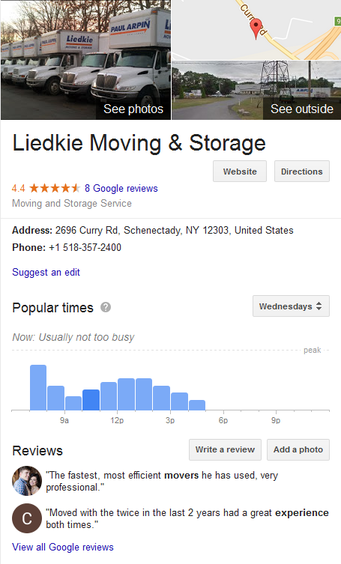 Liedkie Moving and Storage - Location