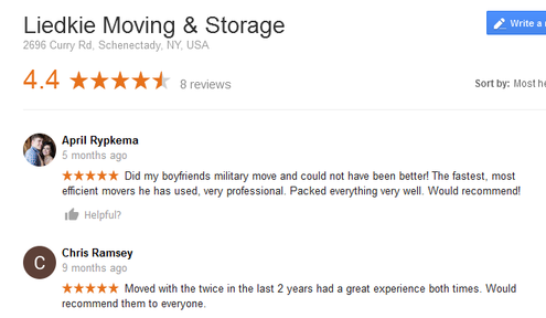 Liedkie Moving and Storage – Moving reviews