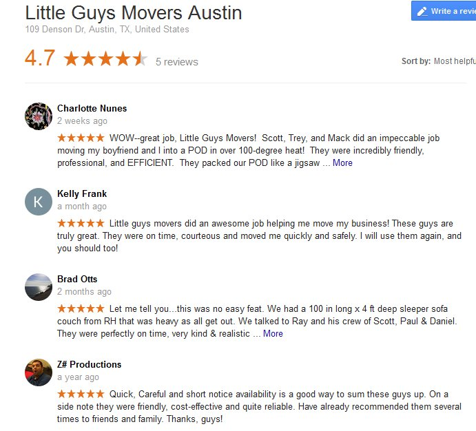 Little Guys Movers – Moving reviews
