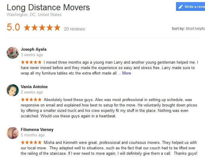 Long Distance Movers – Moving reviews