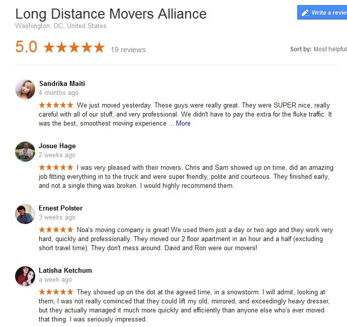 Long Distance Movers Alliance – Moving reviews