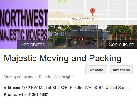 Majestic Moving and Packing - Location