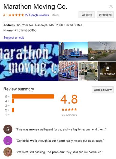 Marathon Moving Company - Location