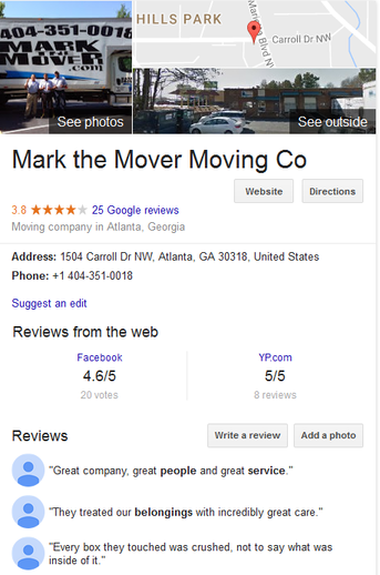 Mark the Mover – Location and reviews