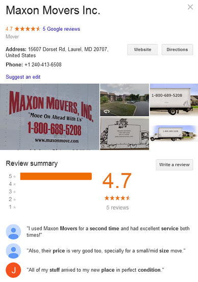 Maxon Movers – Location