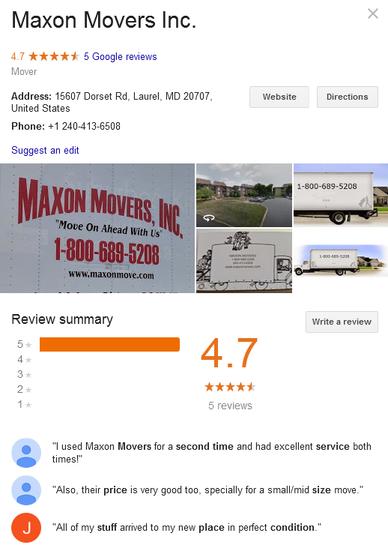 Maxon Movers – Location