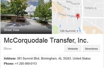 McCorquodale Transfer and Storage - Location