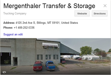 Mergenthaler Transfer and Storage - Location