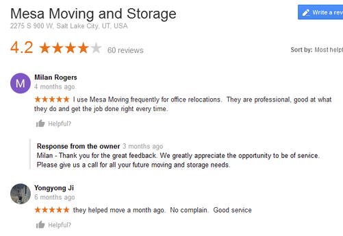 Mesa Moving and Storage – Moving reviews
