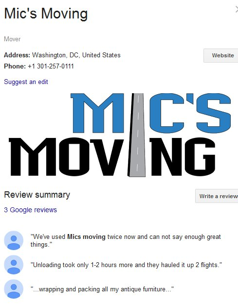 Mic's Moving – Location