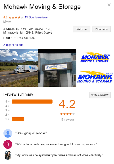 Mohawk Moving and Storage - Location