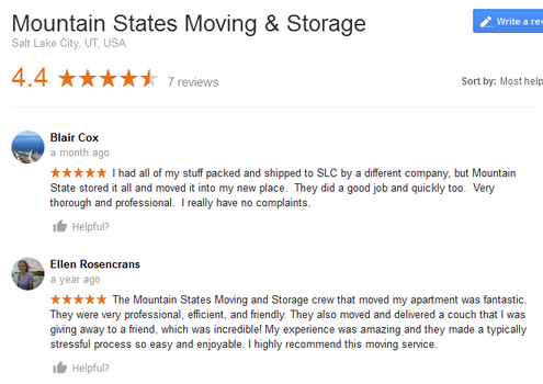Mountain States Moving and Storage – Moving reviews