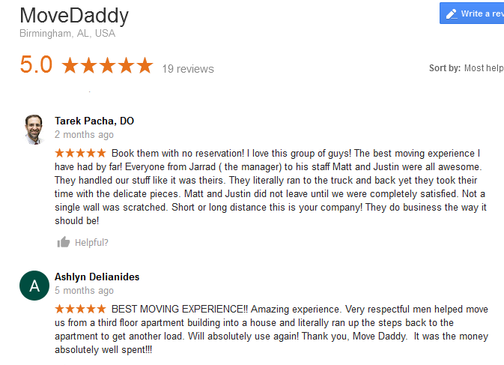 Move Daddy - Moving reviews