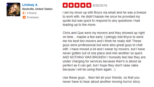 Move on Moving Company – Moving review