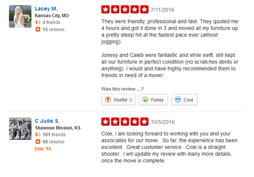Moving Pros – Moving reviews