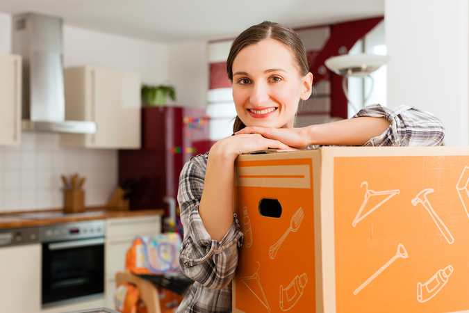 Moving companies can do all your packing, loading, disassembly/assembly, and door to door delivery