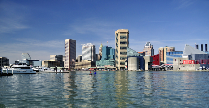 Moving to Baltimore – Beautiful view of the harbor at daytime