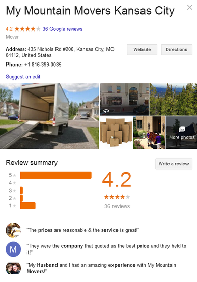 My Mountain Movers – Location and reviews