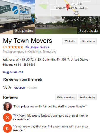 My Town Movers - Location