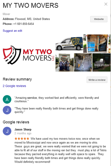 My Two Movers – Location